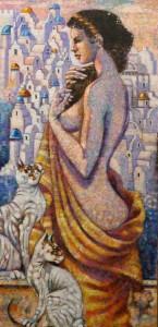 Panna z kotami