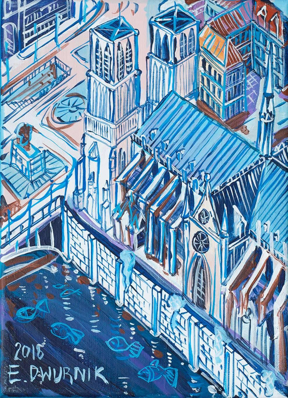 Paryż Katedra Notre Dame