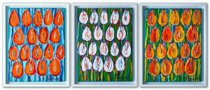 Tulipany - tryptyk