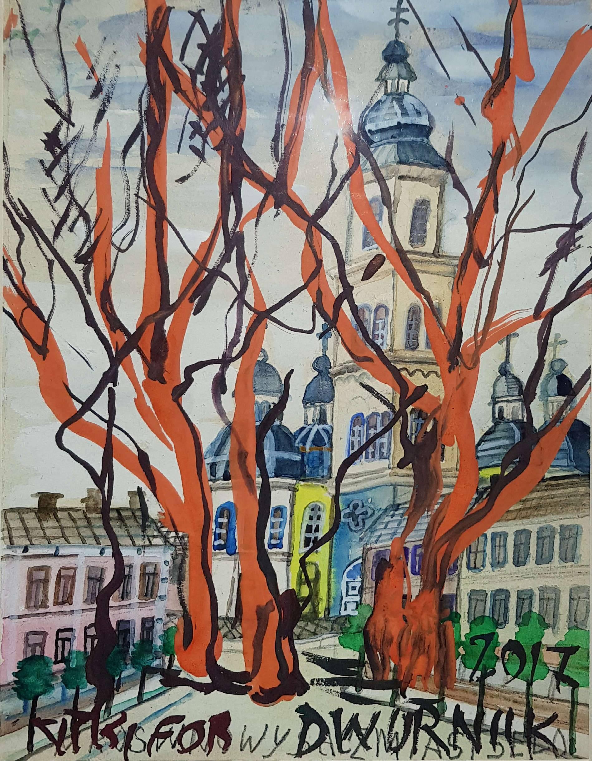 Miasto z cyklu Nikifor-Dwurnik