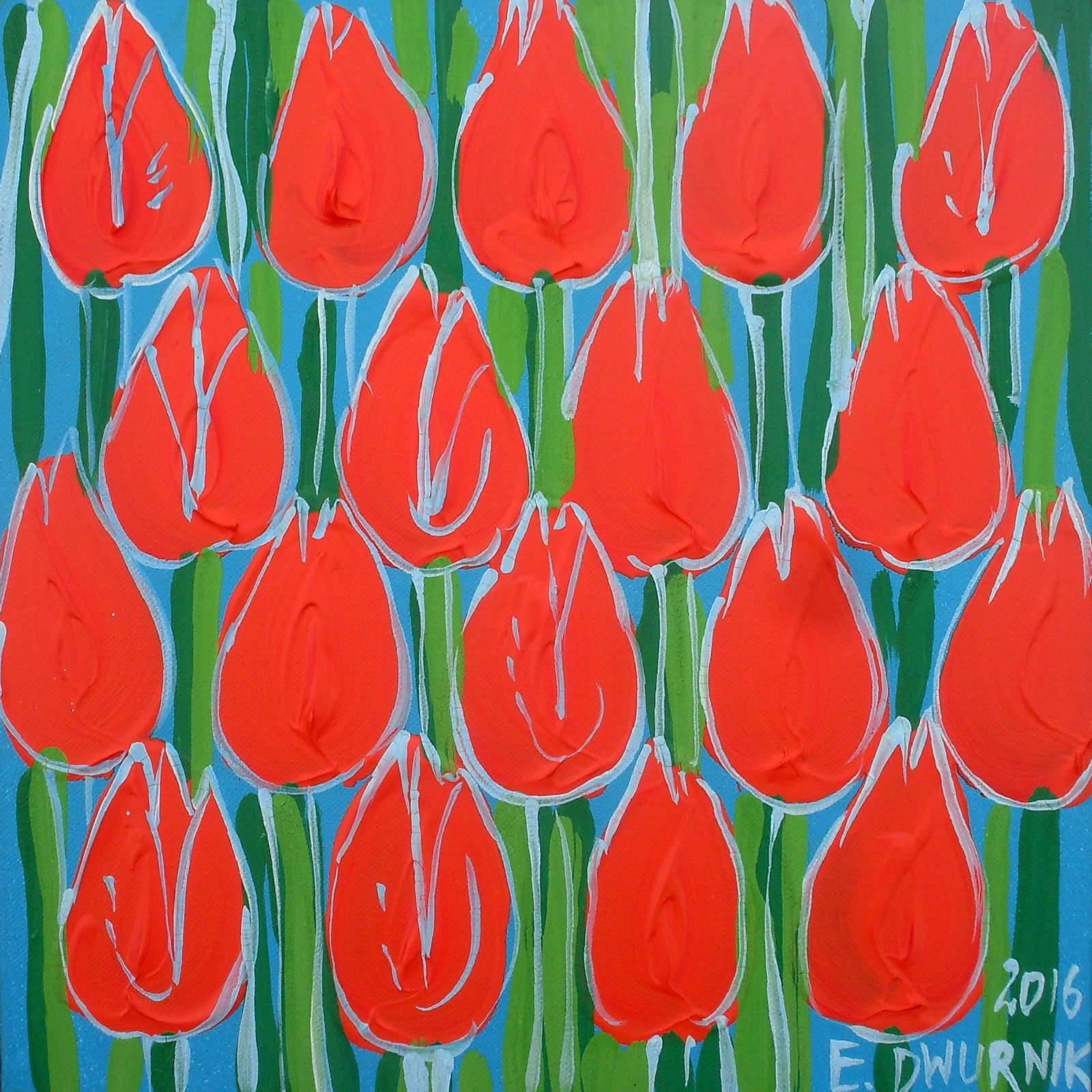 Pomarańczowe tulipany