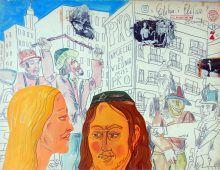 "Elihu i Elifan z cyklu "" Moi bohaterowie"" rok 1979"